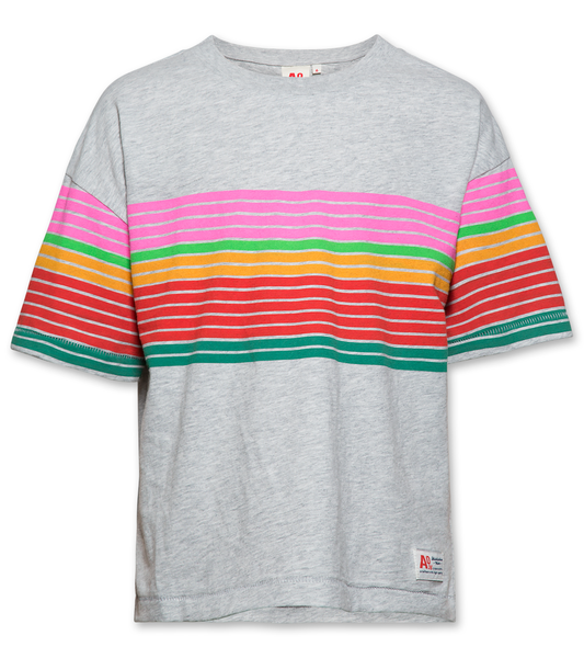 AO76 120-1103-09 tshirt oversized striped light oxford