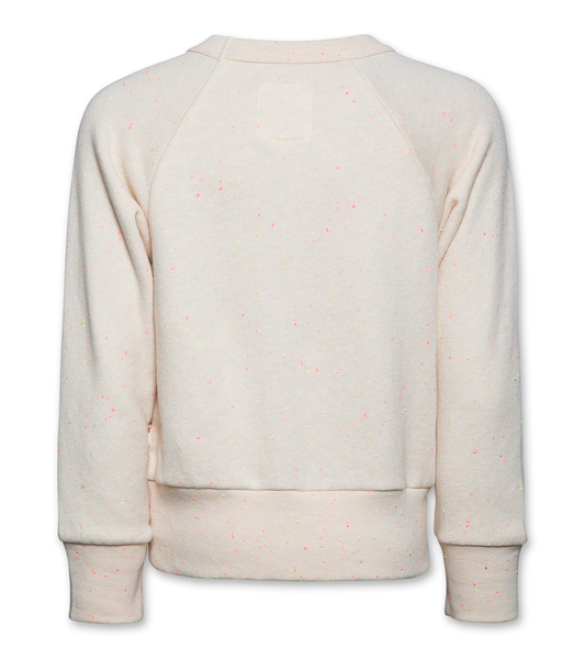 AO76 120-1233-21 cneck nep sweater palm natural