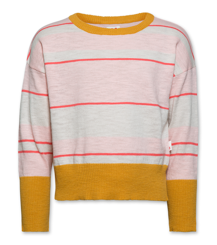 AO76 120-1310 striped boatneck dessert rose