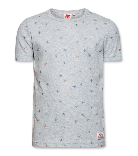 AO 120-2100-03 tshirt cneck surfers 0914 light oxford