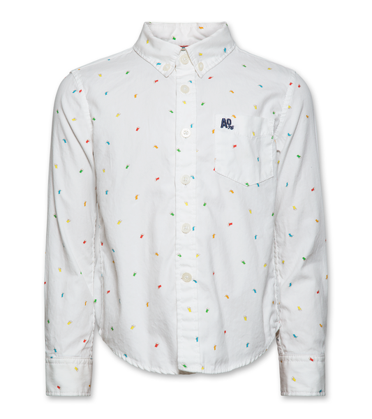 AO 120-2400-11 chair button down shirt 0100 white