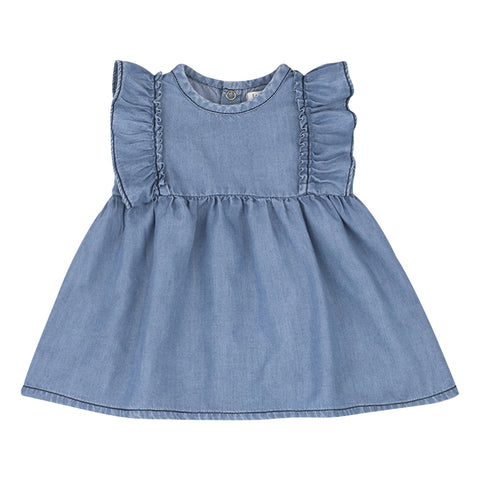 1+ in the family dress MENORCA denim
