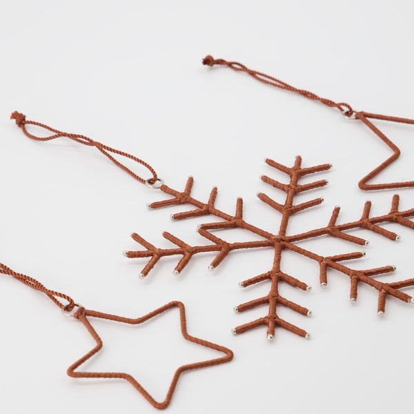 House doctor Ornaments, Snowflakes & Stars, Brown