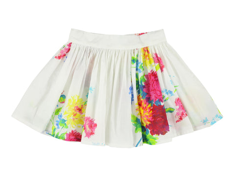 MORLEY FERRARI bigflowers white skirt