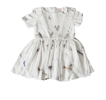 Morley Dress Nico birdy white
