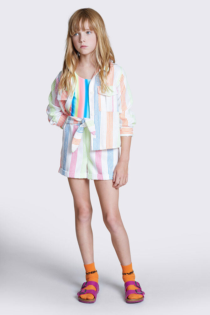 CKS RAISON off white short fluo streep