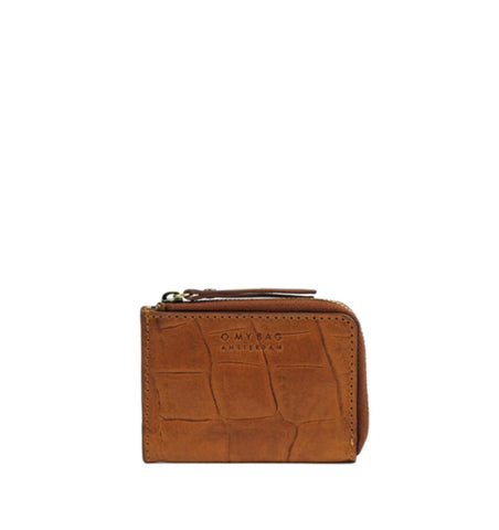 O MY BAG Coco Coin Purse Mini-wallet, CROCO COGNAC