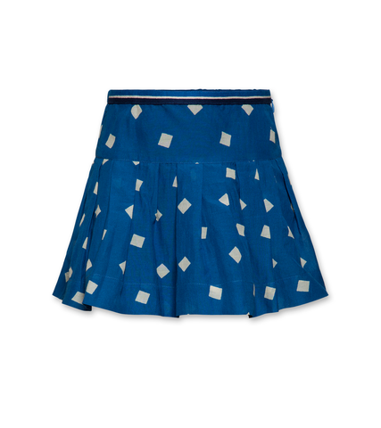 AO76 Paula block skirt blue
