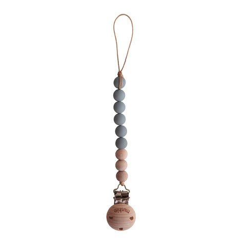 MUSHIE SPEENKETTING stone/wood