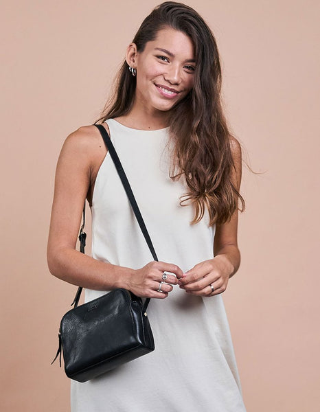 O MY BAG Emily - Leather Strap Black Leather / Stromboli Leather