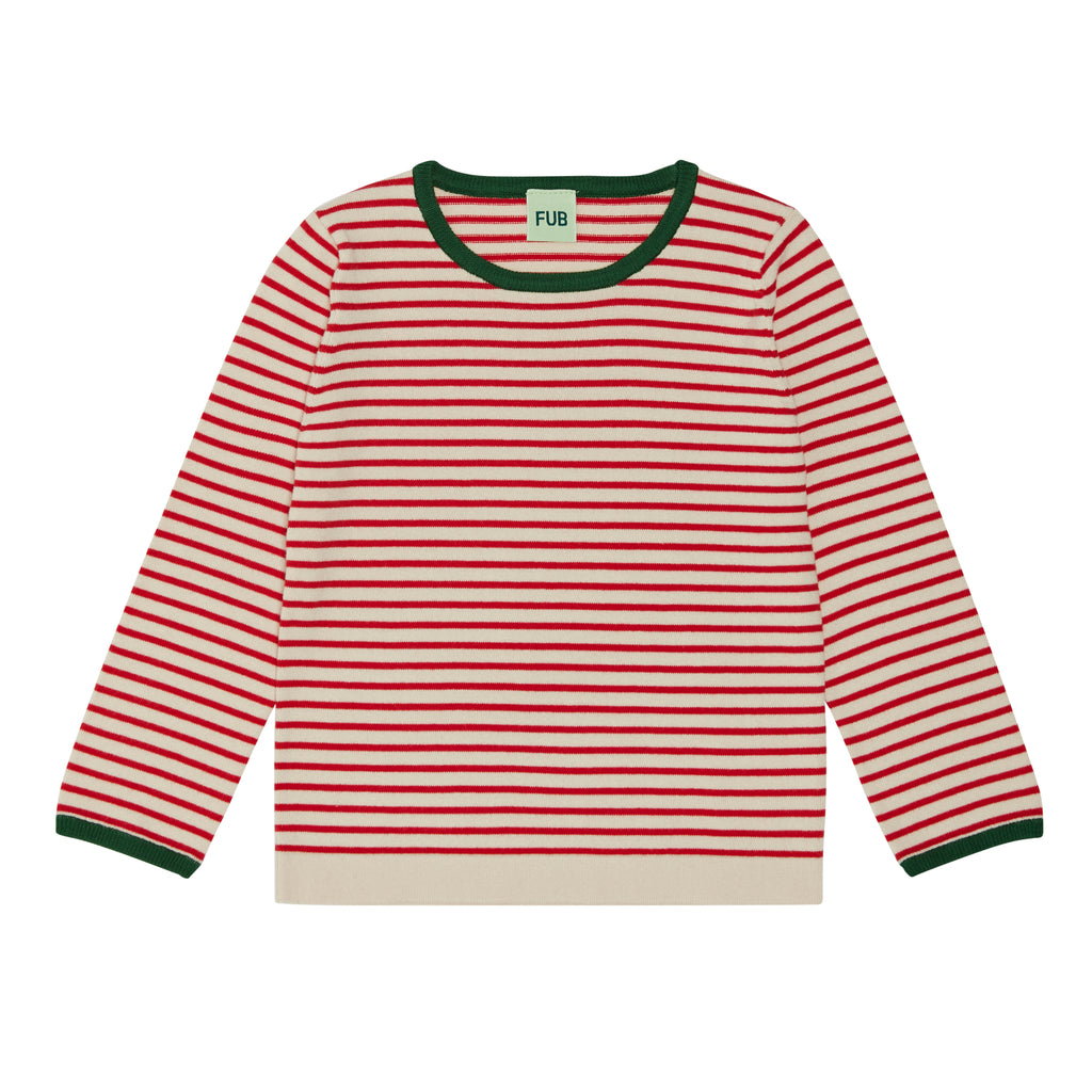 FUB striped blouse ecru/red (1220)