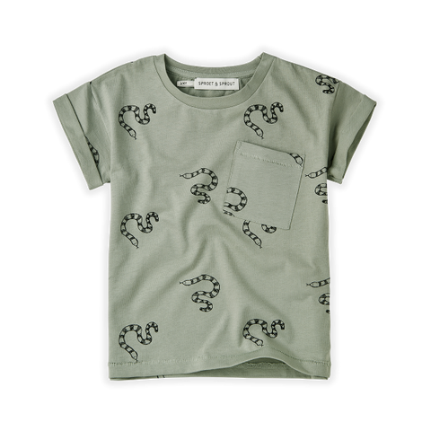 BABY SPROET & SPROUT T-SHIRT PRINT SNAKE