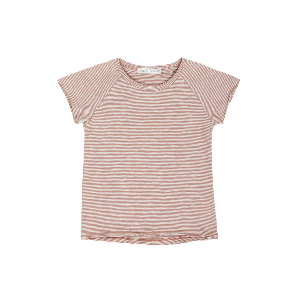 PHIL AND PHAE Raglan tshirt ss sand stripe