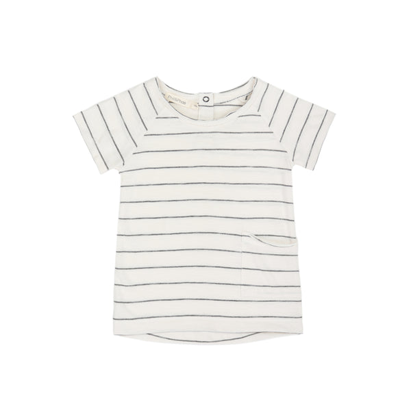 PHIL AND PHAE Raw edged tshirt ss vanilla stripe