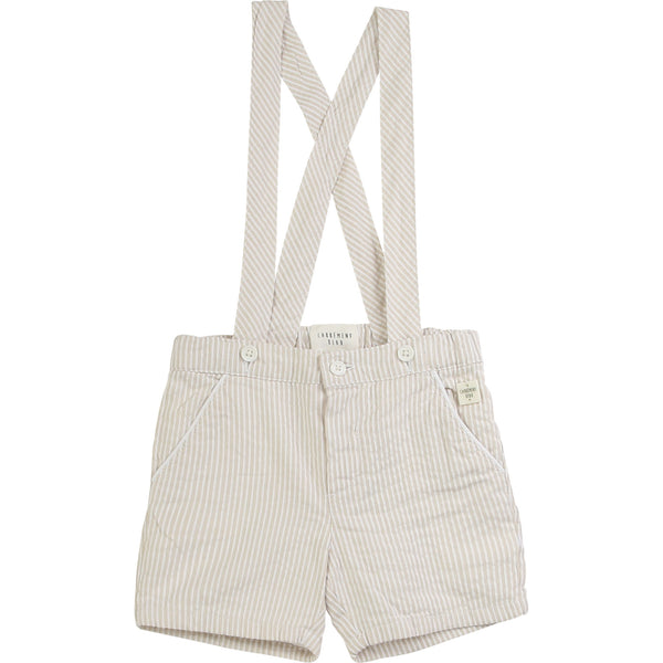 CARREMENT BEAU short de ceremonie beige