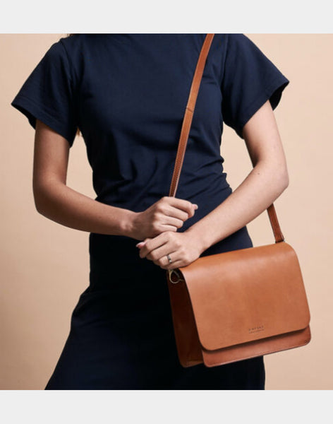 O MY BAG Audrey cognac classic leather