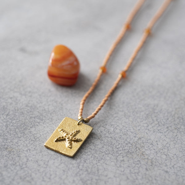 Ketting Delight Carnelian Gold necklace BL24554