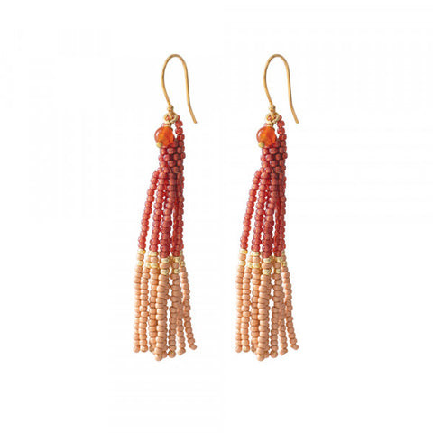 Oorbel Dream carnelian gold earrings BL24562