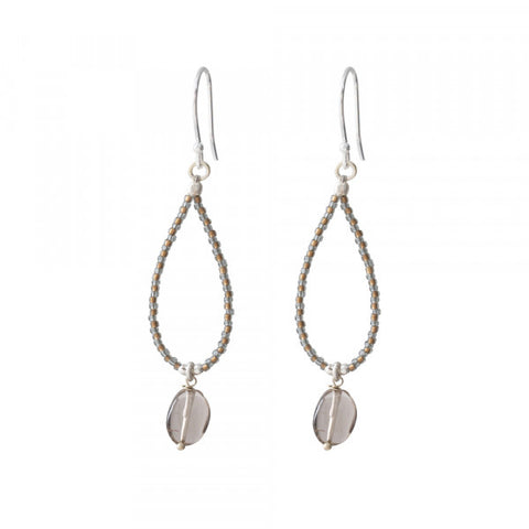 Oorbel Magical Smokey Quarts silver earrings BL25263