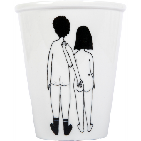 Helen b beker/cup naked couple back