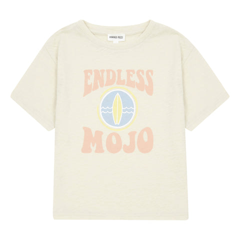 HUNDRED PIECES Endless Mojo Organic Cotton T-shirt Beige