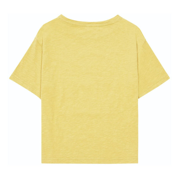 HUNDRED PIECES Sunset People Organic Cotton T-shirt Yellow Curry colour