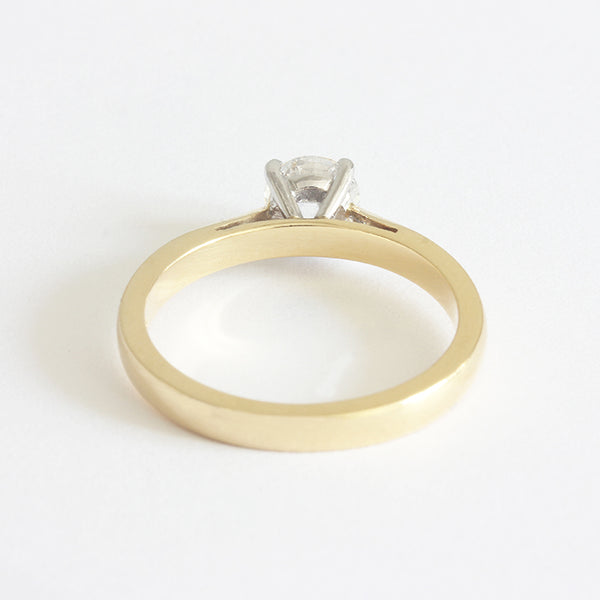 a single stone diamond engagement ring solitaire beautiful gold and platinum