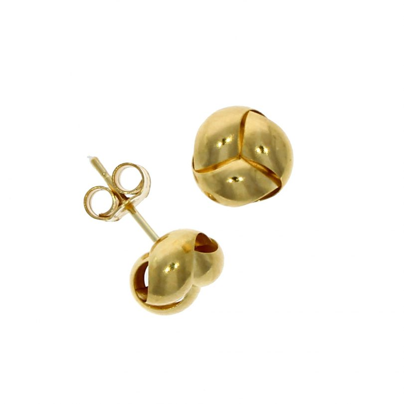 9 carat gold knot stud earrings