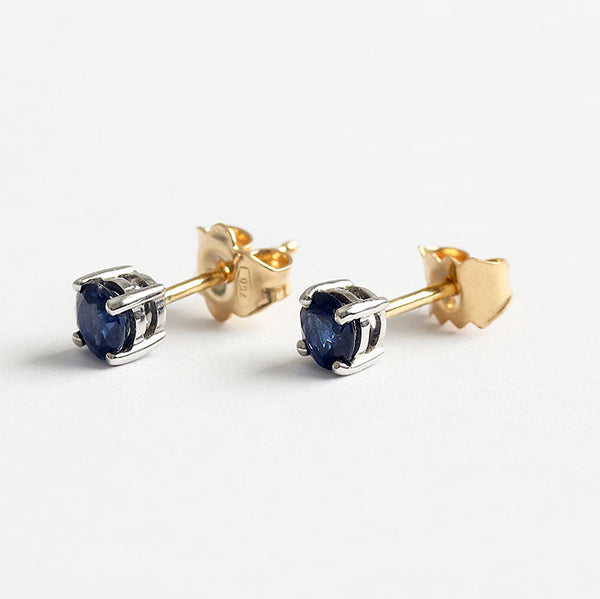 sapphire stud earrings 18ct gold
