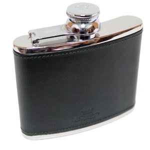 4oz Hip Flask Green by Marlborough of London