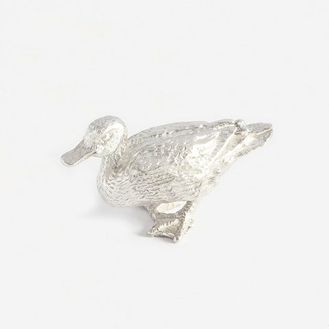 a superb solid silver duck figure at marston barrett lewes