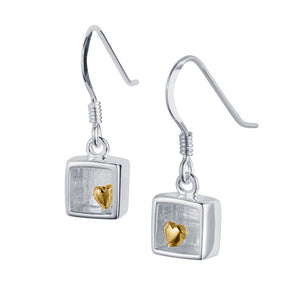 Heart of Gold Drop Earrings by Christin Ranger