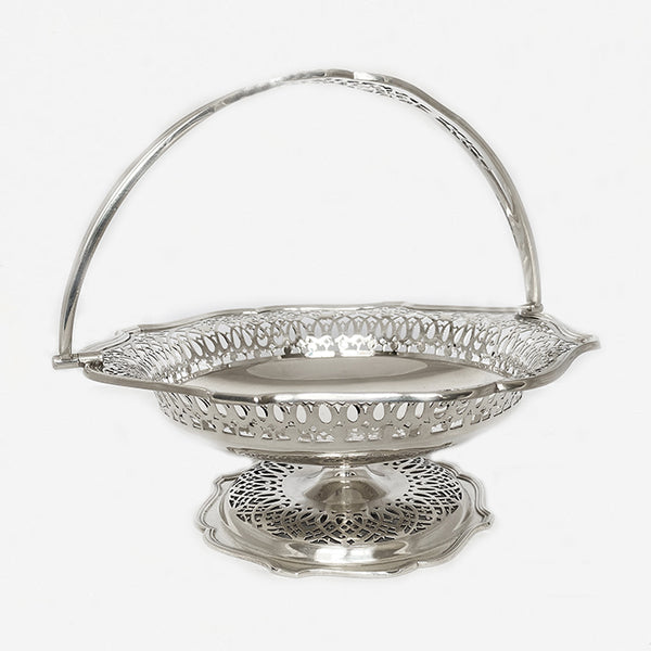 a secondhand Mappin & Webb silver fruit bowl pierced decoration dated London 1918