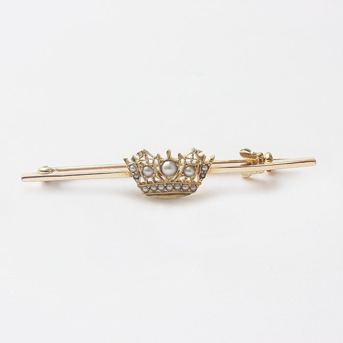 a beautiful seed pearl naval sweetheart brooch