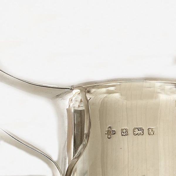 a hallmarked silver and gilt finish christening mug dated 1920