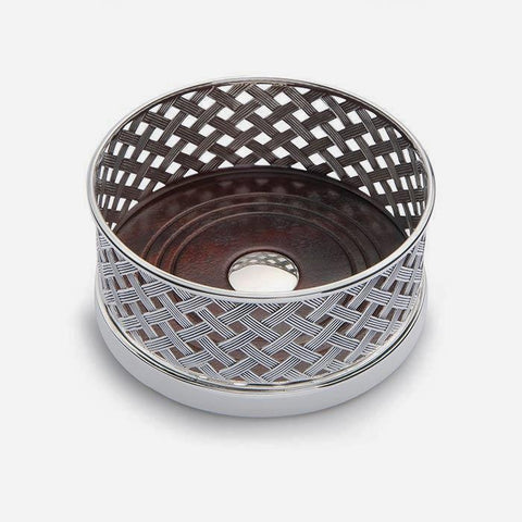 Sterling Silver Basket Weave Wine Coaster