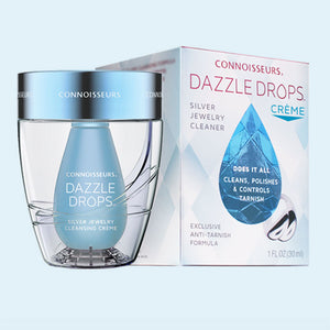 Connoisseurs Dazzle Drops Silver Jewellery Cleansing Crème at Marston Barrett jewellers in lewes