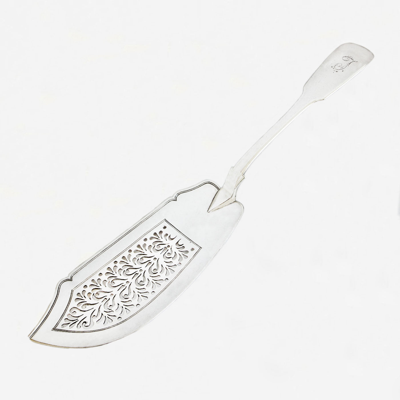 a secondhand  silver georgian fish slice dated 1825