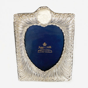 an antique silver photo frame victorian dated 1895