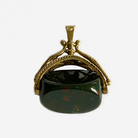 a bloodstone gold swivel fob secondhand marston barrett