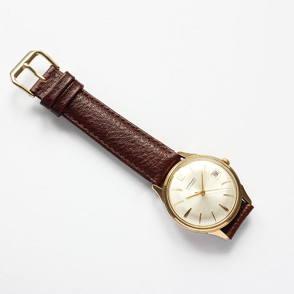 a wonderful garrard automatic mens watch with 9 carat gold case automatic movement circa 1960s at marston barrett in lewes