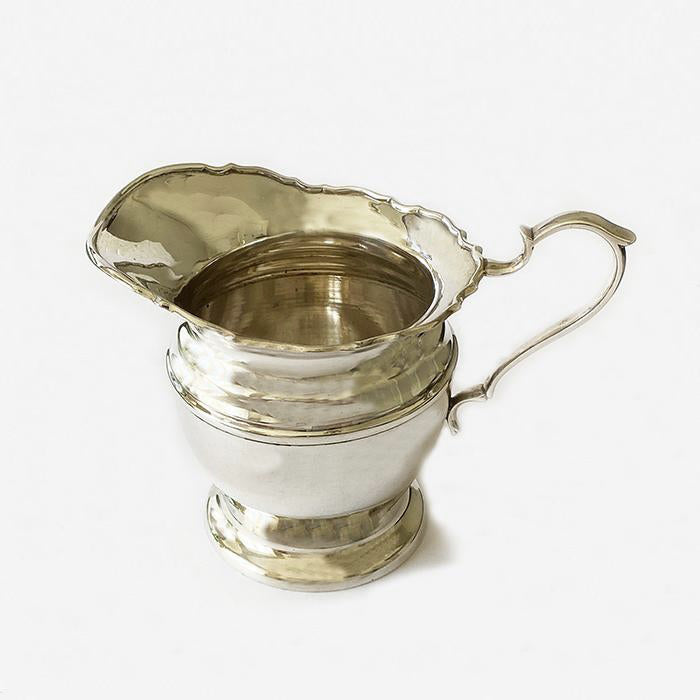 a vintage plain milk jug in solid silver dated Birmingham 1925 at marston barrett in lewes  Edit alt text