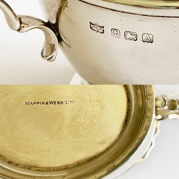 a mappin and webb secondhand vintage solid silver milk jug dated 1925
