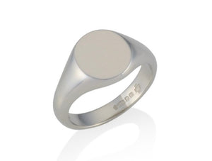 gold oval signet ring 11.5mm x 9.5mm