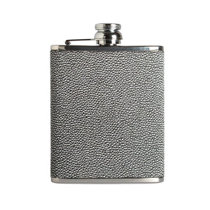 6oz Hip Flask Tokyo Black and White by Marlborough of England