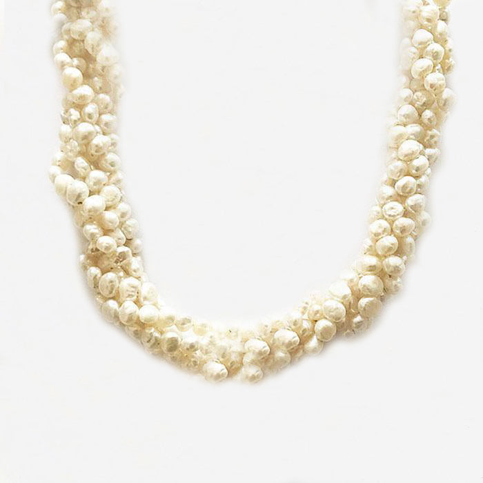 a multi strand pearl set necklace collar at marston barrett jewellers in lewes sussex