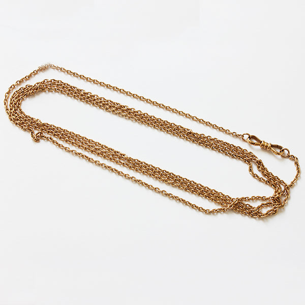 a preowned antique 15 carat guard chain with an oval small trace link at marston barrett