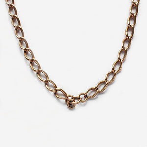 a 9 carat rose gold albert chain with stamping on each link 9.375 and a double swivel clasp