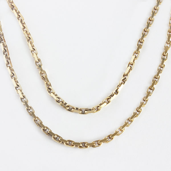 a secondhand yellow gold trace chain marston barrett