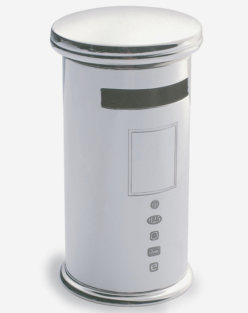 Sterling Silver Post Box Novelty Child's Money Box